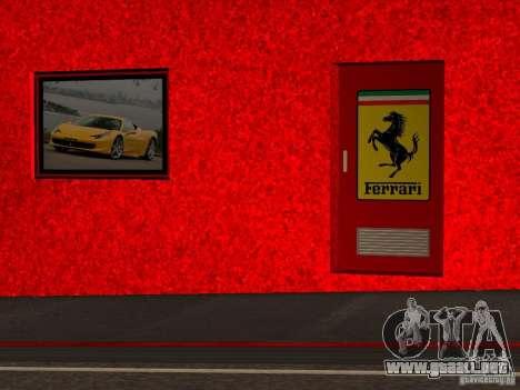 Nuevo Showroom de Ferrari en San Fierro para GTA San Andreas sexta pantalla