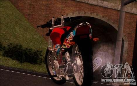 Yamaha YBR para GTA San Andreas vista hacia atrás