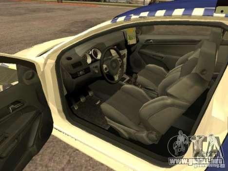 Opel Astra 2007 Police para GTA San Andreas vista posterior izquierda