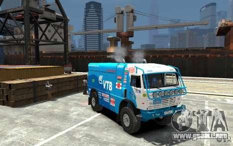 KAMAZ 4911 Rally MASTER para GTA 4 vista hacia atrás