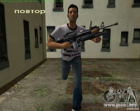 M-16 de Scarface para GTA Vice City quinta pantalla