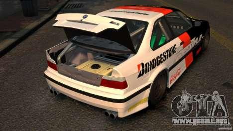 BMW M3 E36 FSC para GTA 4 vista hacia atrás