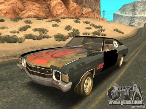Chevrolet Chevelle Rustelle para vista lateral GTA San Andreas