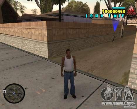 HUD Adidas para GTA San Andreas