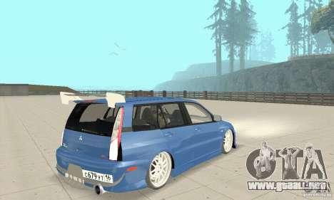 Mitsubishi Lancer Evolution IX Wagon MR Drift para GTA San Andreas left