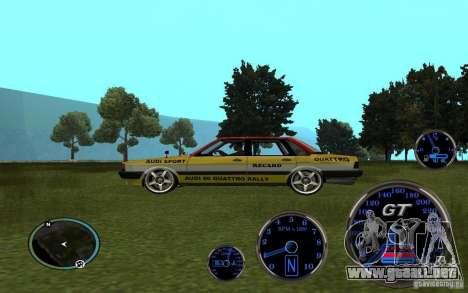 Audi 80 Quattro Rally para la visión correcta GTA San Andreas
