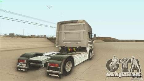 Scania V8 para GTA San Andreas vista posterior izquierda