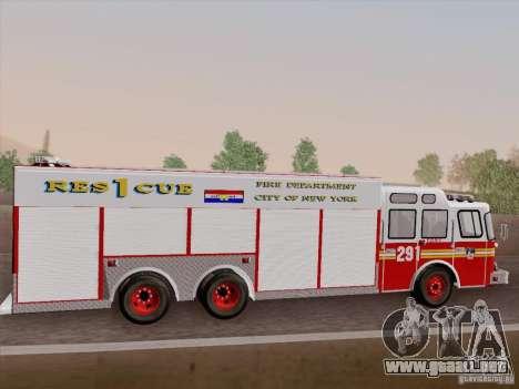 E-One F.D.N.Y Fire Rescue 1 para la vista superior GTA San Andreas