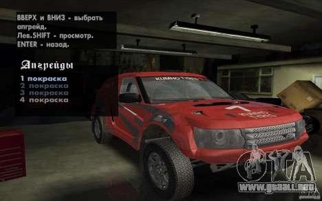Bowler Nemesis para la vista superior GTA San Andreas
