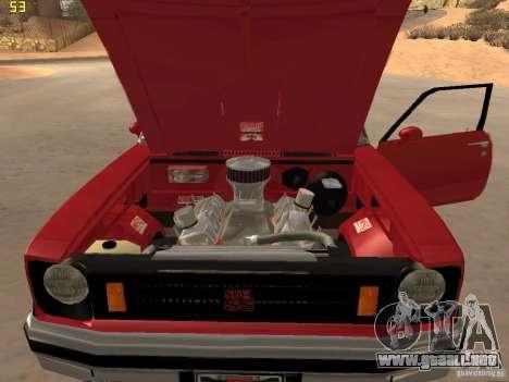 Chevrolet Nova Chucky para GTA San Andreas vista hacia atrás