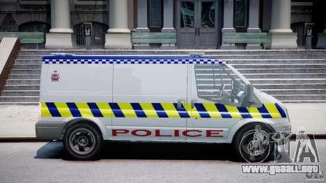 Ford Transit Polish Police [ELS] para GTA 4 vista hacia atrás