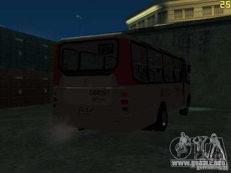 Marcopolo G6 para GTA San Andreas vista hacia atrás