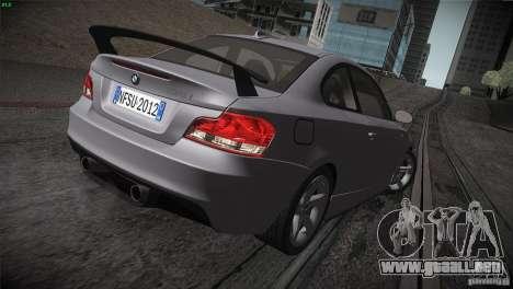 BMW 135i Coupe Road Edition para la vista superior GTA San Andreas