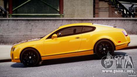 Bentley Continental SS 2010 ASI Gold [EPM] para GTA 4 vista interior