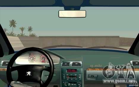 Peugeot 406 1.9 HDi para GTA San Andreas vista hacia atrás