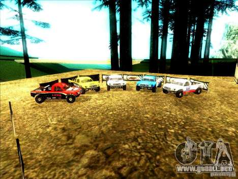 Toyota Tundra Rally para vista inferior GTA San Andreas