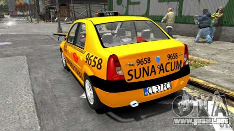 Dacia Logan Prestige Taxi para GTA 4 Vista posterior izquierda