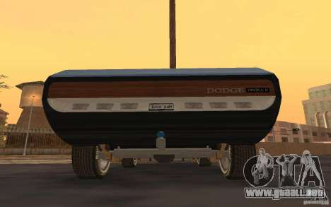 Dodge Deora Concept 1965-1967 para GTA San Andreas vista posterior izquierda