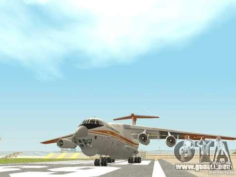 Ilyushin 76 TD (bombero) para GTA San Andreas left