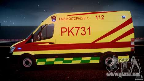 Mercedes-Benz Sprinter PK731 Ambulance [ELS] para GTA motor 4