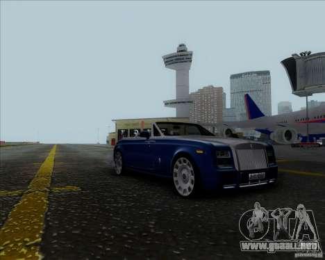 Rolls Royce Phantom Series II Drophead Coupe 12 para GTA San Andreas vista posterior izquierda