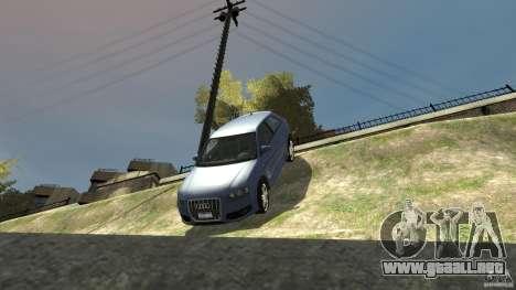 Audi S3 2006 v1.1 no es tonirovanaâ para GTA 4 vista desde abajo
