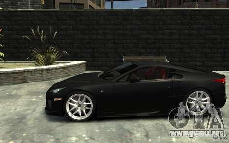 Lexus LFA v1.0 para GTA 4 left
