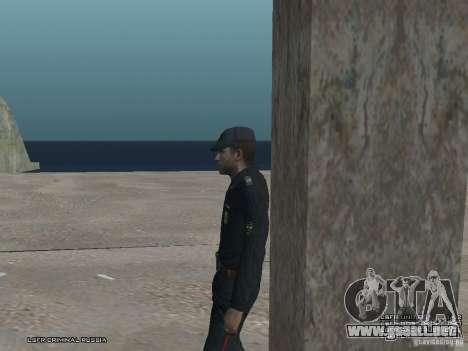 Sargento PPP para GTA San Andreas octavo de pantalla