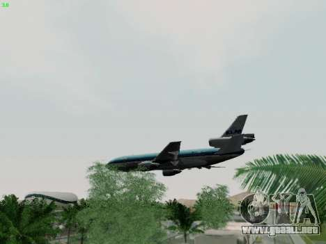 McDonell Douglas DC-10-30 KLM Royal Dutch para la vista superior GTA San Andreas