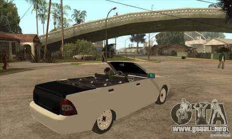 VAZ LADA Priora convertible para la visión correcta GTA San Andreas