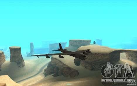Boeing B-52 Stratofortress para GTA San Andreas vista hacia atrás