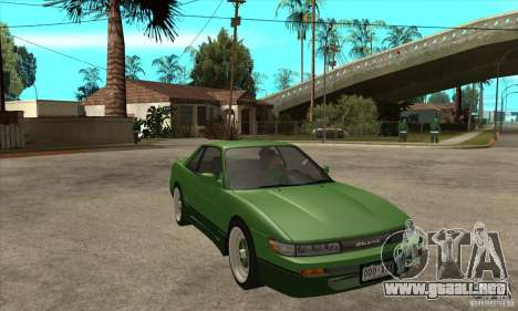 Nissan Silvia S13 1992 Club Ks para GTA San Andreas vista hacia atrás