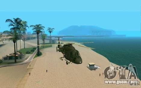 Ka-60 Kasatka para GTA San Andreas vista hacia atrás