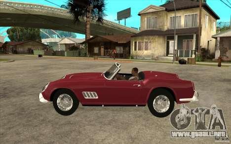 Ferrari 250 California 1957 para GTA San Andreas left