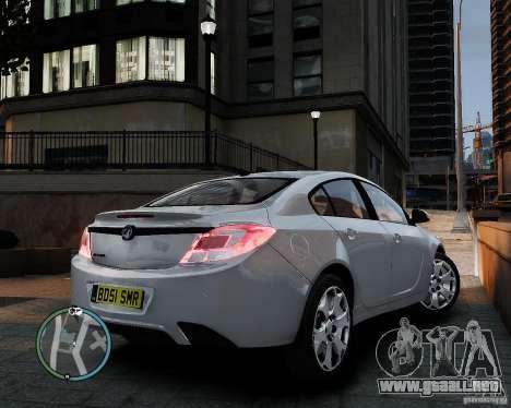 Vauxhall Insignia v1.0 para GTA 4 vista hacia atrás