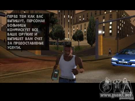 El detonador para GTA San Andreas sucesivamente de pantalla