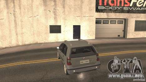 Fiat Idea HLX para GTA San Andreas vista hacia atrás