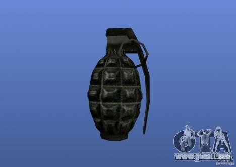 Grenade para GTA 4 adelante de pantalla