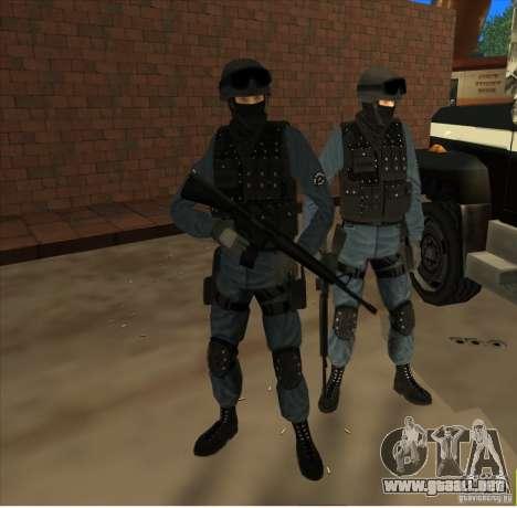 Los Angeles S.W.A.T. Skin para GTA San Andreas segunda pantalla