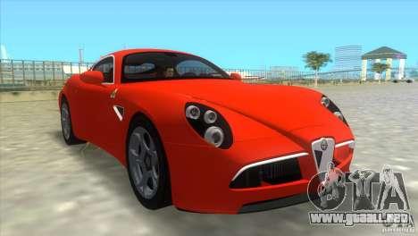 Alfa Romeo 8C Competizione para GTA Vice City left
