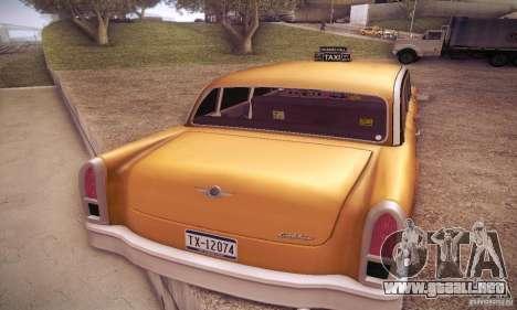 Cabbie HD para GTA San Andreas vista posterior izquierda