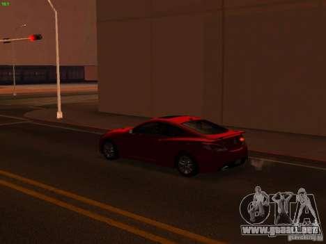Hyundai Genesis Coupé 3.8 Track v1.0 para la vista superior GTA San Andreas