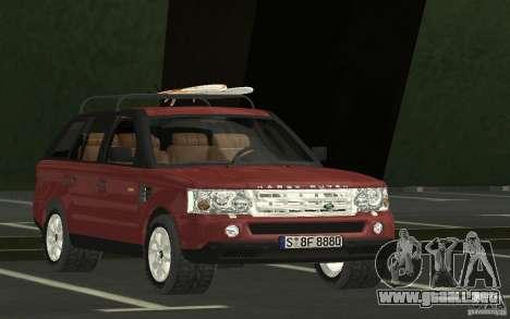 Land Rover Range Rover 2007 para GTA San Andreas vista hacia atrás