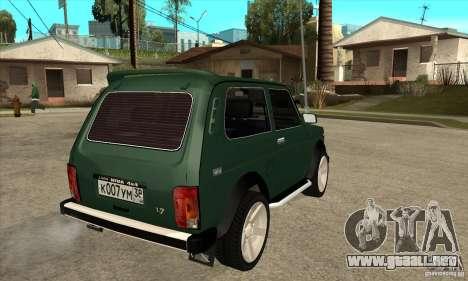 VAZ 21213 NIVA para la visión correcta GTA San Andreas