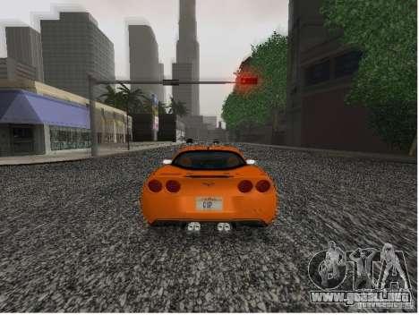 Chevrolet Corvette (C6) para GTA San Andreas vista posterior izquierda