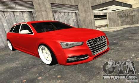 Audi A6 Avant Stanced para la vista superior GTA San Andreas
