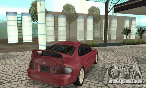 Toyota Celica GT-Four v1.1  1994 para GTA San Andreas vista posterior izquierda