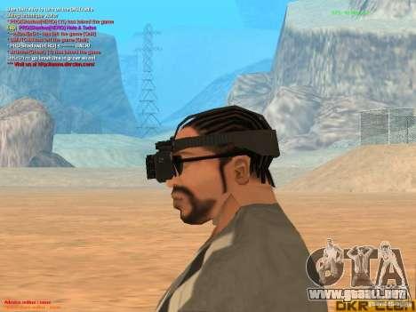 Thermal Goggles para GTA San Andreas tercera pantalla