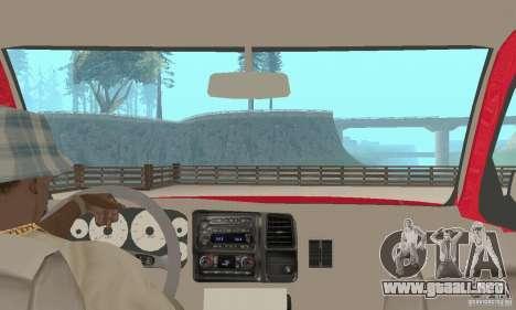 Chevrolet Tahoe 1992 para visión interna GTA San Andreas