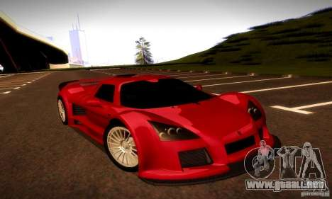 Gumpert Apollo para GTA San Andreas vista hacia atrás